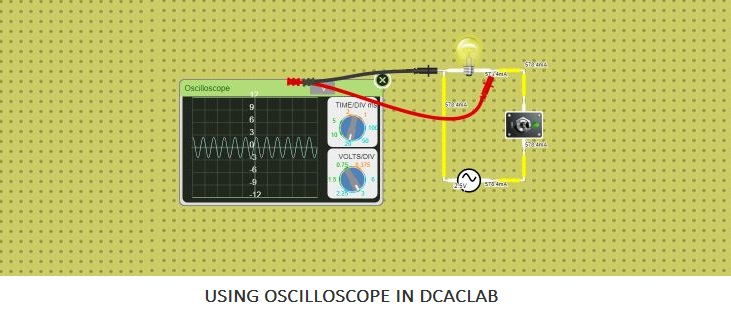 how to use oscilloscope in dcaclab