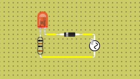 using a diode in dcaclab