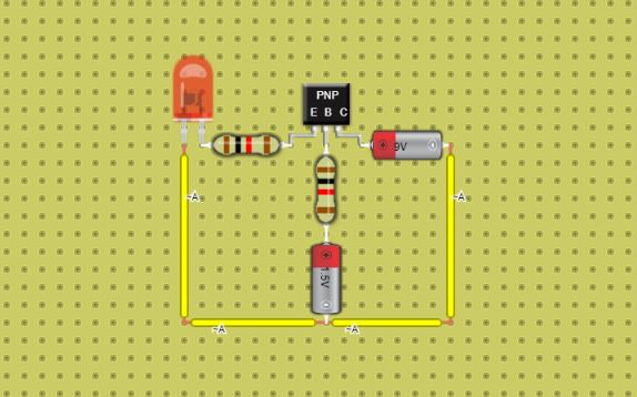 using pnp transistor in DCACLab
